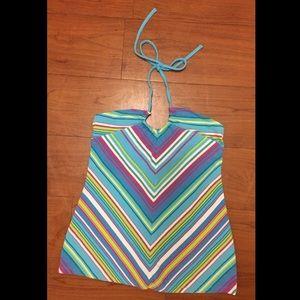 Victoria's Secret Striped Halter Bra Top, Sz S